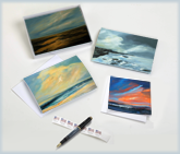 Notecards of artwork by Bethany Peck. Blank greeting cards and white mailing envelopes. Suitable for sending, giving as a gift, or framing for your wall. I'm a Massachusetts artist. My primary focus is in expressionistic landscape oil paintings.